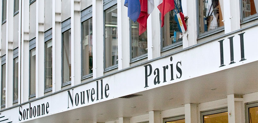 Image of a building that says Sorbonne Nouvell Paris III.